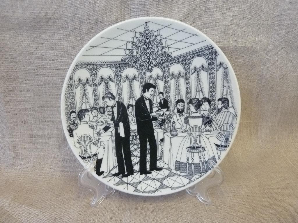 Arabia Tarjoilija annual plate 1986, designer Raija Uosikkinen, silk screening, made to order