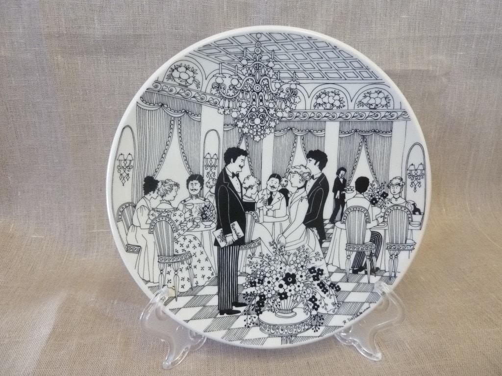 Arabia Hovimestari annual plate 1984, designer Raija Uosikkinen, silk screening, made to order