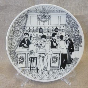 Arabia Baarimestari annual plate, 1983, designer Raija Uosikkinen, silk screening, ordered decoration