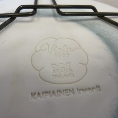 Arabia Viola decorative plate, blue, designer Birger Kaipiainen, small, 3