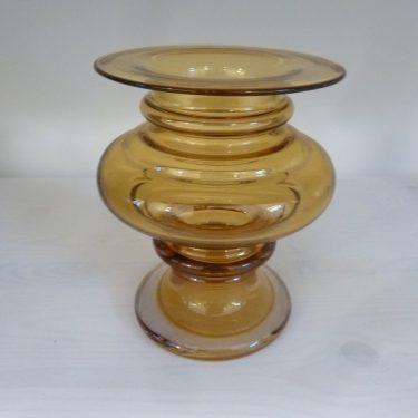 Riihimäen lasi Tornado maljakko, suunnittelija Tamara Aladin, amber