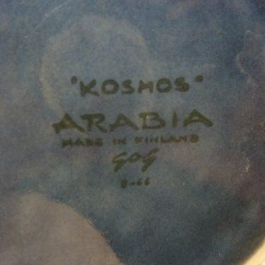 Arabia Kosmos kaadin, sininen, suunnittelija Gunvor Olin-Grönqvist, 1 l, käsinmaalattu kuva 2