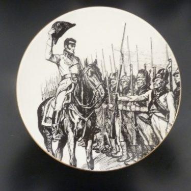 Arabia Vänrikki Stoolin tarinat koristelautanen, Döbeln Juuttaalla, suunnittelija , Döbeln Juuttaalla, serikuva