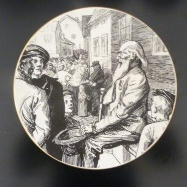 Arabia Vänrikki Stoolin tarinat koristelautanen, Vänrikin Markkinamuisto, suunnittelija , Vänrikin Markkinamuisto, serikuva