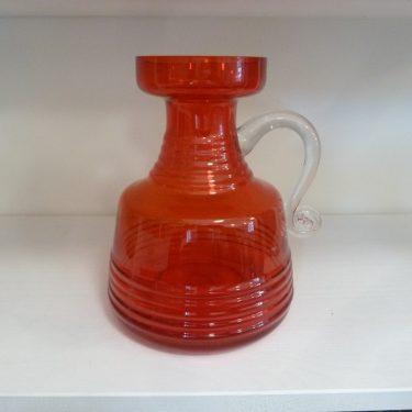 Riihimäen lasi Kleopatra vase, red, designer Tamara Aladin, big