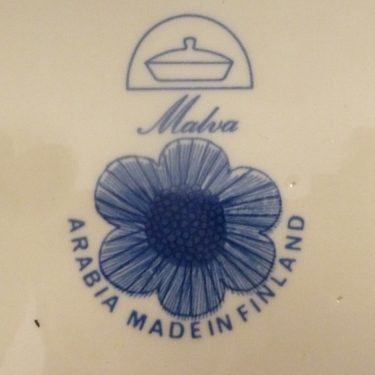 Arabia Malva kulho, sininen, suunnittelija Esteri Tomula, pieni, serikuva kuva 3