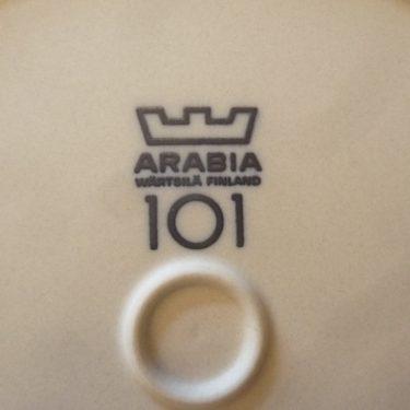 Arabia koristelautanen, Arabia 101 vuotta, suunnittelija Raija Uosikkinen, Arabia 101 vuotta, serikuva, maisema-aihe kuva 2