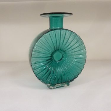 Riihimäen lasi Aurinkopullo decorative bottle, 3/4, designer Helena Tynell