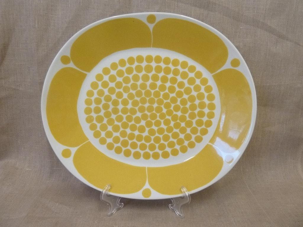 Arabia Sunnuntai platter, designer Birger Kaipiainen, oval, decorative printing