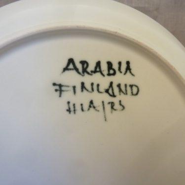 Arabia Hehku plate, designer Hilkka-Liisa Ahola, hand-painted, signed, 2