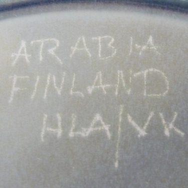 Arabia Kuutamo lautanen, suunnittelija Hilkka-Liisa Ahola, käsinmaalattu, signeerattu kuva 3