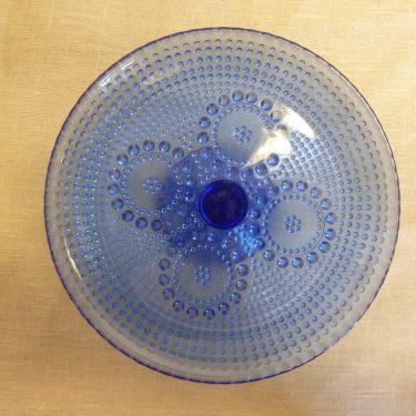 Riihimäen lasi Grapponia leivostarjotin, koboltinsininen, suunnittelija Nanny Still,  kuva 2