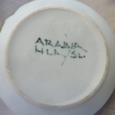 Arabia Kukka teekaadin, keltainen, suunnittelija Hilkka-Liisa Ahola, 70 cl, pieni, käsinmaalattu kuva 2