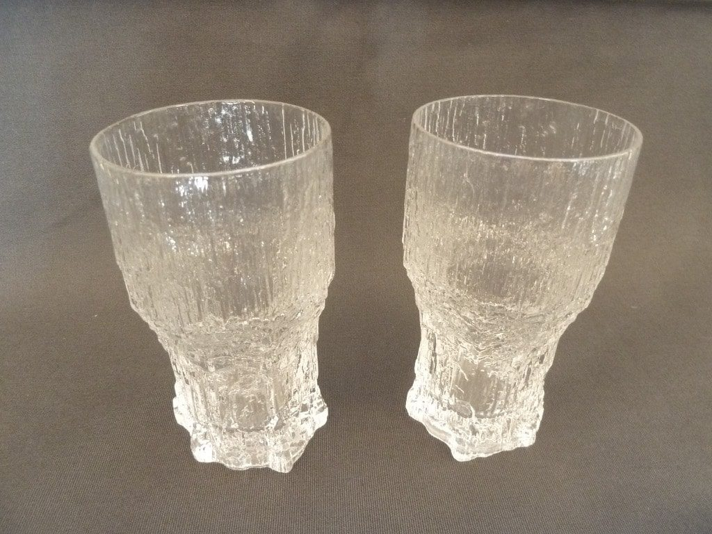 Iittala Aslak beer glass, clear, 2 pcs, designer Tapio Wirkkala, 35 cl, big