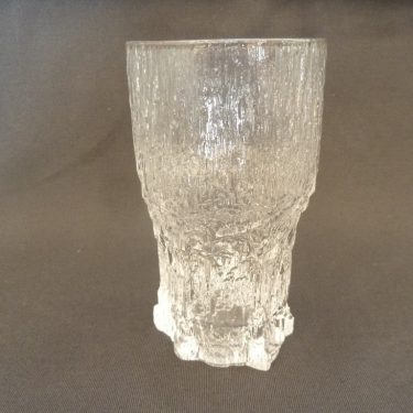 Iittala Aslak beer glass, clear, 3 pcs, designer Tapio Wirkkala, 35 cl, big, 2