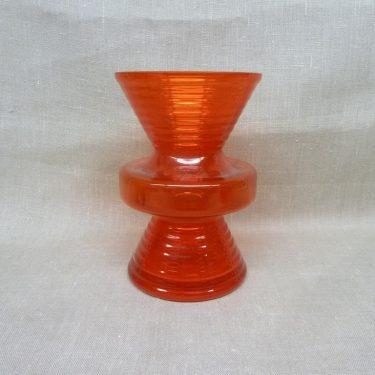 Riihimäen lasi Hyrrä maljakko, suunnittelija Helena Tynell, punainen kuva 2