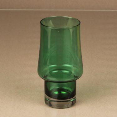 Riihimäen lasi 1473 vase, green, designer Tamara Aladin