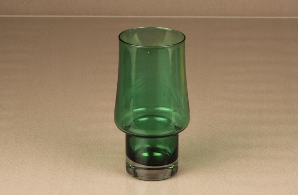 Riihimäen lasi 1473 maljakko, vihreä, suunnittelija Tamara Aladin,