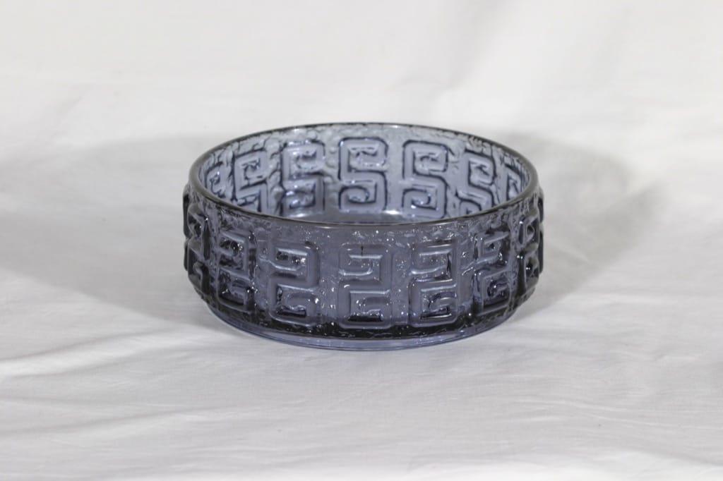 Riihimäen lasi Taalari kulho, siniharmaa, suunnittelija Tamara Aladin,