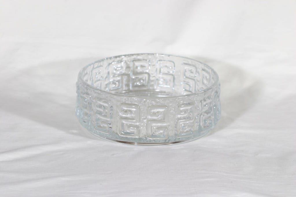 Riihimäen lasi Taalari kulho, kirkas, suunnittelija Tamara Aladin,