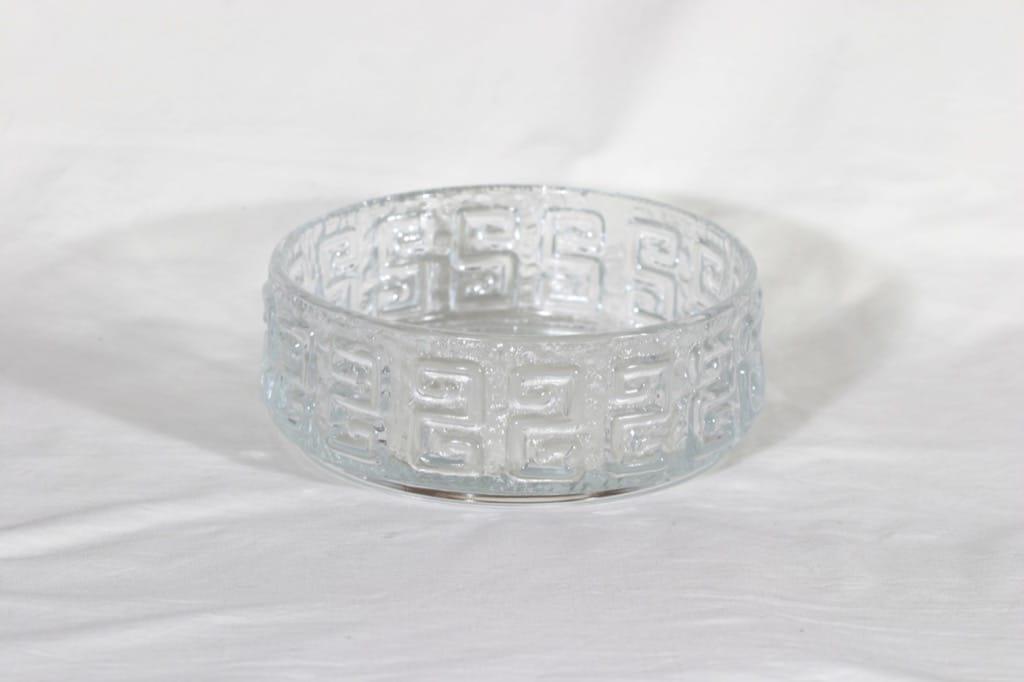 Riihimäen lasi Taalari bowl, clear, designer Tamara Aladin