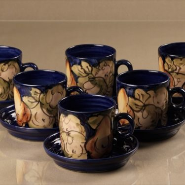 Savitorppa cups and saucers, 6 pcs, hand-painted, signed