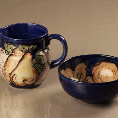 Savitorppa sugar bowl and creamer, hand-painted