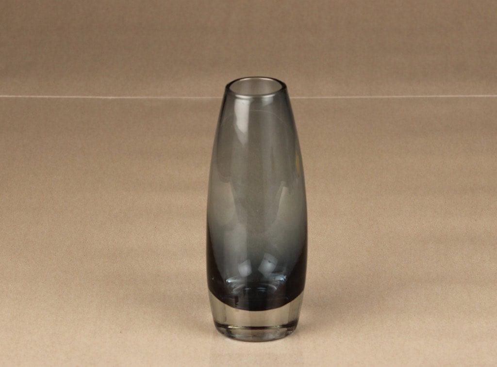 Riihimäen lasi 1370 maljakko, siniharmaa, suunnittelija Tamara Aladin,
