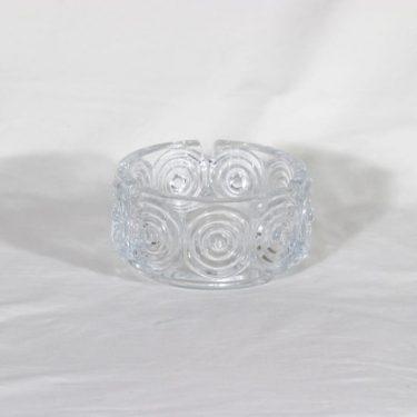 Riihimäen lasi Rengas tuhka-astia, kirkas, suunnittelija Tamara Aladin,