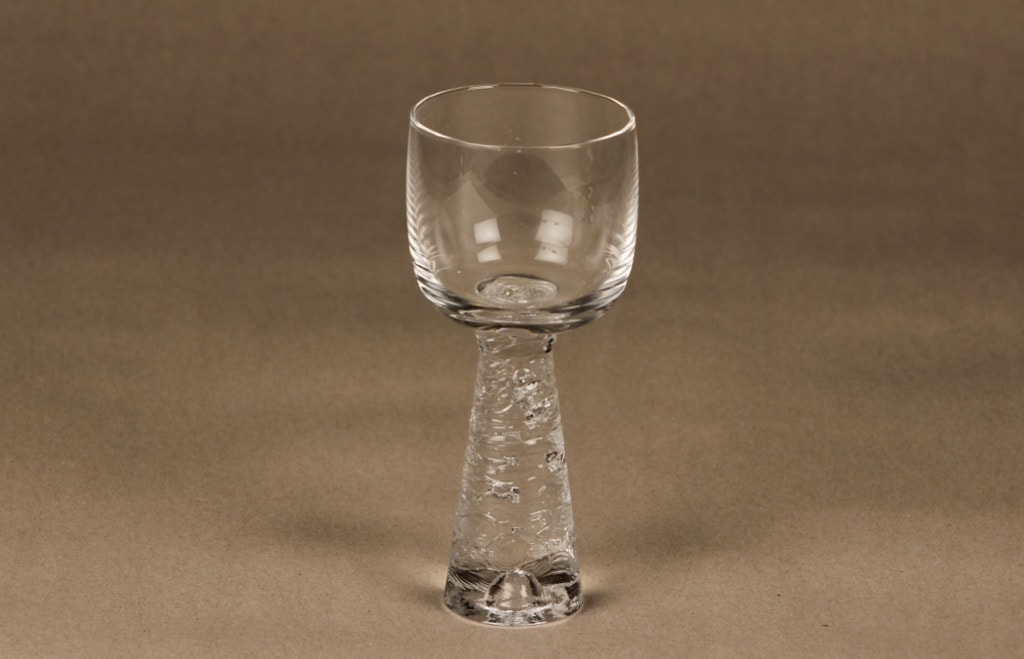 Iittala Arkipelago white wine glass, clear, Timo Sarpaneva