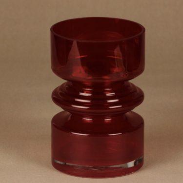 Riihimäki glass Tiimalasi vase, red, Nanny Still,