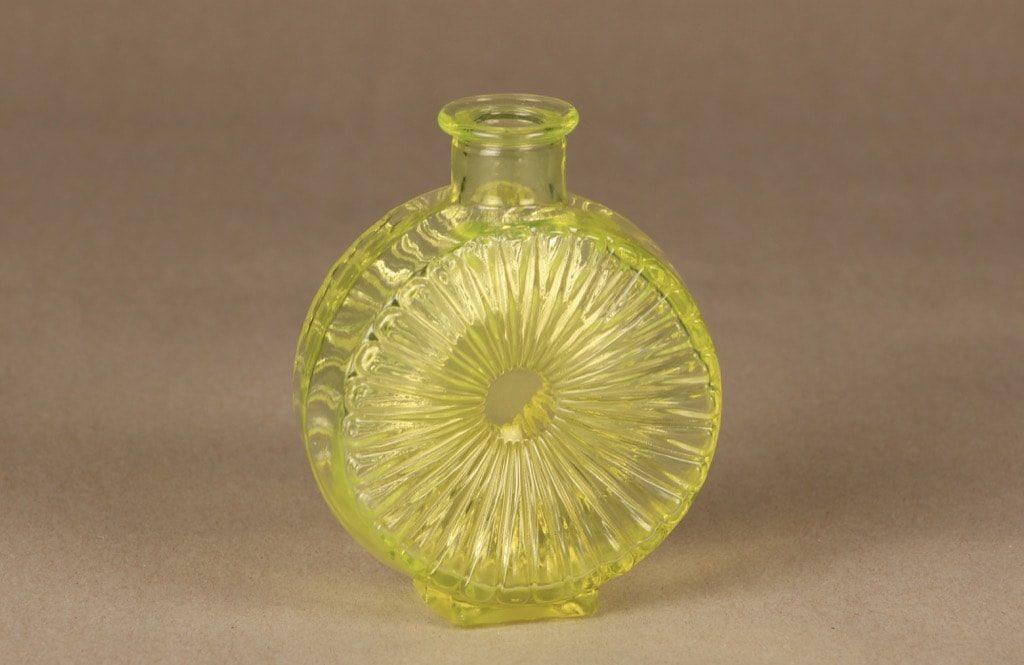 Riihimäen lasi Aurinkopullo decorative bottle, yellow, designer Helena Tynell, small, size ¼