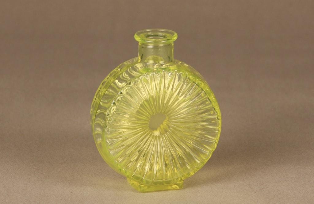 Riihimäen lasi Aurinkopullo koristepullo, keltainen, suunnittelija Helena Tynell, pieni, koko ¼