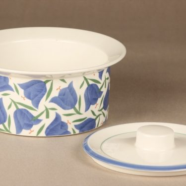 Arabia Balladi bowl, designer Heikki Orvola, with lid, silk screening, 2