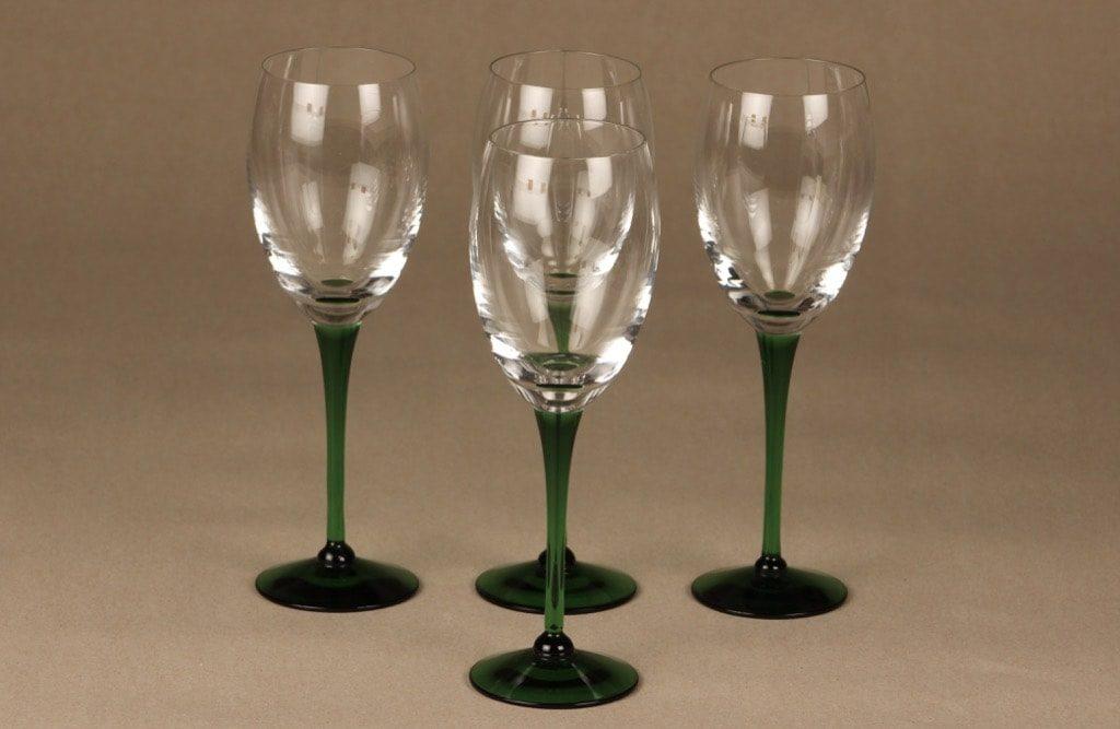 Nuutajärvi Traviata lasit, kirkas, 4 kpl, suunnittelija Saara Hopea, 20 cl