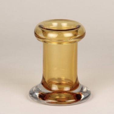Riihimäen lasi Rulla vase, amber, designer Tamara Aladin, small