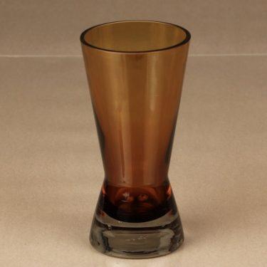Riihimäen lasi 1360 maljakko, ruskea, suunnittelija Tamara Aladin, pieni