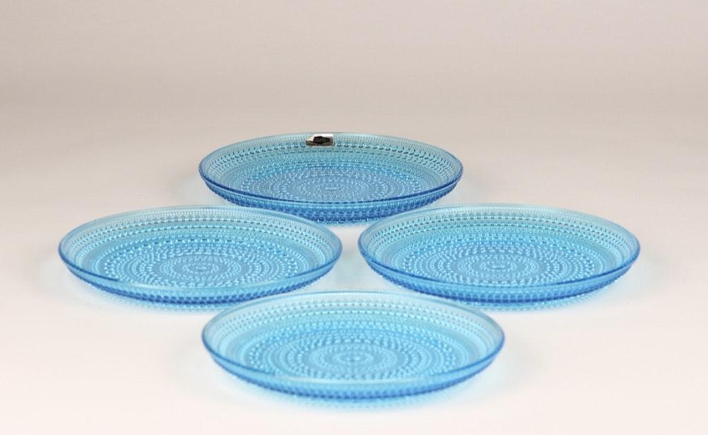 Nuutajärvi Kastehelmi lautaset, turkoosi, 4 kpl