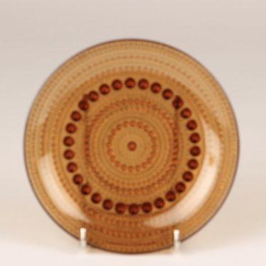 Nuutajärvi Kastehelmi lautaset, ruskea, 6 kpl, suunnittelija Oiva Toikka,