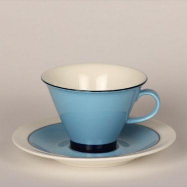 Arabia Harlekin Turkos kahvikuppi, turkoosi, suunnittelija Inkeri Leivo,