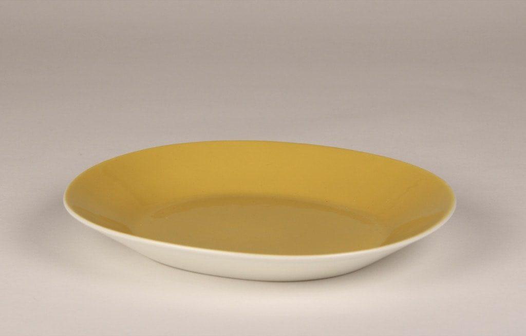 Arabia Aatami lautaset, keltainen, suunnittelija Birger Kaipiainen,