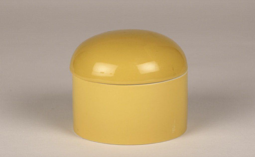 Arabia Aatami box, yellow, designer Birger Kaipiainen, retro