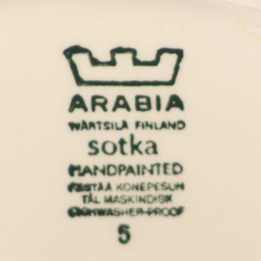 Arabia Sotka kaadin, sininen, suunnittelija Raija Uosikkinen, 1 l, käsinmaalattu kuva 2