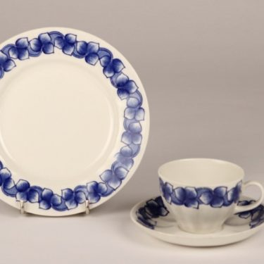 Arabia Rinki coffee cup, saucer and plate, Raija Uosikkinen
