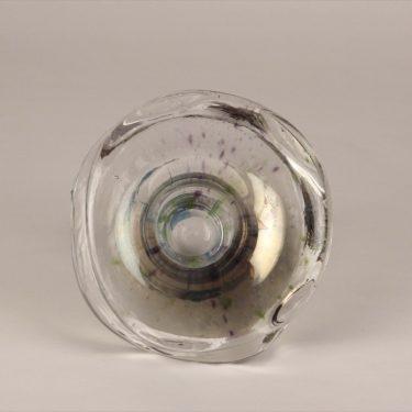Riihimäen lasi art glass, Tatti, designer Helena Tynell, multi colored, 3