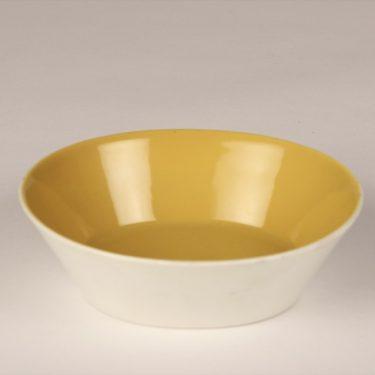 Arabia Aatami kulho, keltainen, suunnittelija Birger Kaipiainen, soikea