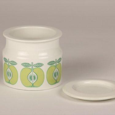Arabia Pomona Omena jar, designer Raija Uosikkinen, silk screening, retro, 2