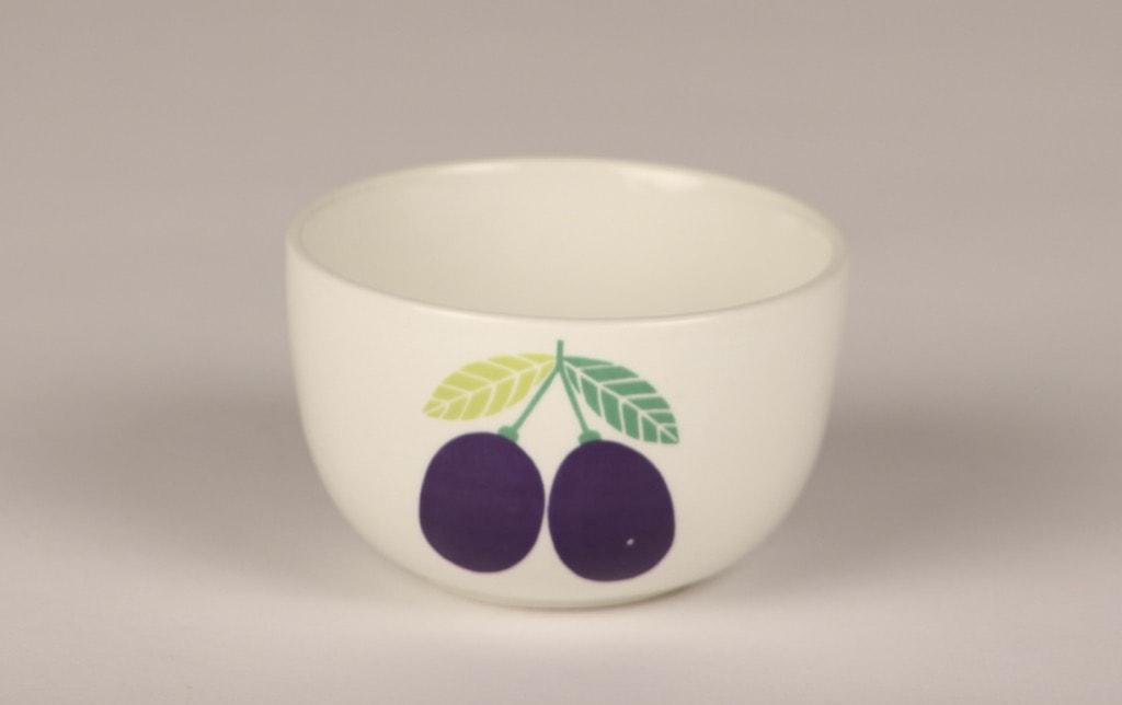 Arabia Pomona Luumu sokerikko, suunnittelija Raija Uosikkinen, serikuva, retro