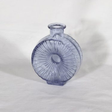 Riihimäen lasi Aurinkopullo koristepullo, neodyymi, suunnittelija Helena Tynell, sävy VII