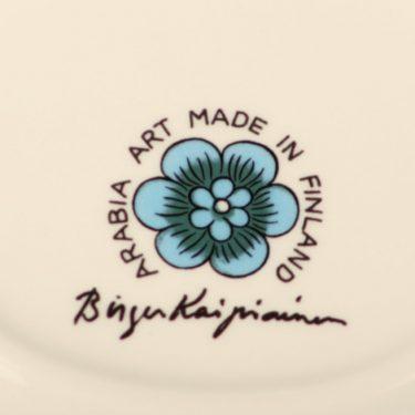 Arabia BK koristelautanen, sininen, suunnittelija Birger Kaiipiainen, pieni, lysteri, signeerattu kuva 2